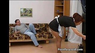 Wild stud screws his mature maid ¬ PornParanoid.com