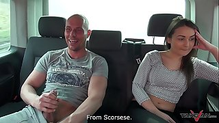 Hungarian lazy beauty didnt want to leave the van after fuck