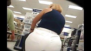 Big fat ass mom shopping