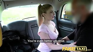 Fake Taxi Blue eyed Scottish babe enjoys rough screwing on back seat of taxi
