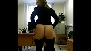 Office selfie big ass flashing