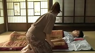 Screwed japanese woman and sick hubby