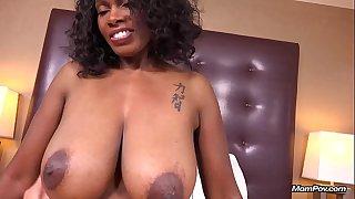Curvy Ebony Milf Has All Natural Big Black Boobs in her First HD POV Fuck Film