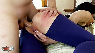 Hot and naighty Mummy Damaris fucking hard with younger guy