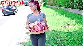 Juicy big ass redhead Latina rides a big cock (Canela Skin)