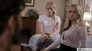 Stepmom and Daughter tricked into FFM - Sarah Vandella, Emma Hix - Pure Taboo