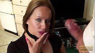 Spunk eating subslut Ashley Rider punished by Master