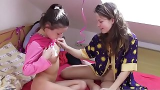 Very young Teenager Lesbian playing with each other after School
