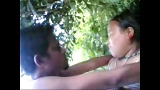 tanya fucks her lover stiff in the jungle on camera